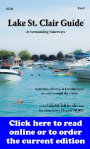 2016 Lake St. Clair Guide cover